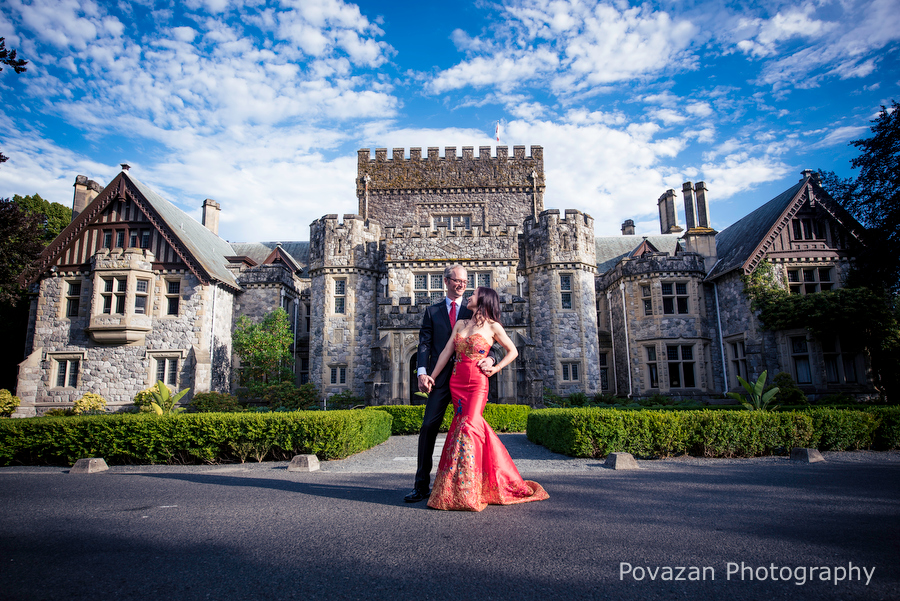 Hatley Castle Engagement at Vancouver island by Povazan Photography